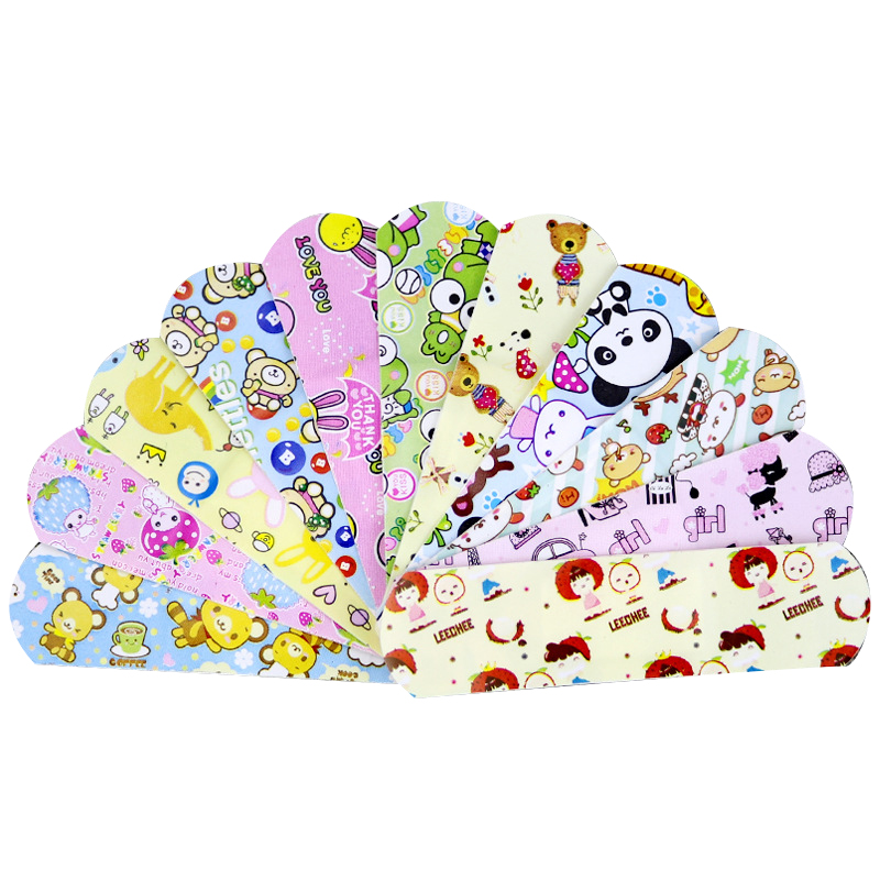 120PCs Waterproof Breathable Cute Cartoon Band Aid Hemostasis Adhesive Bandages First Aid Emergency Kit For Kids Children|Emergency Kits| |  - title=