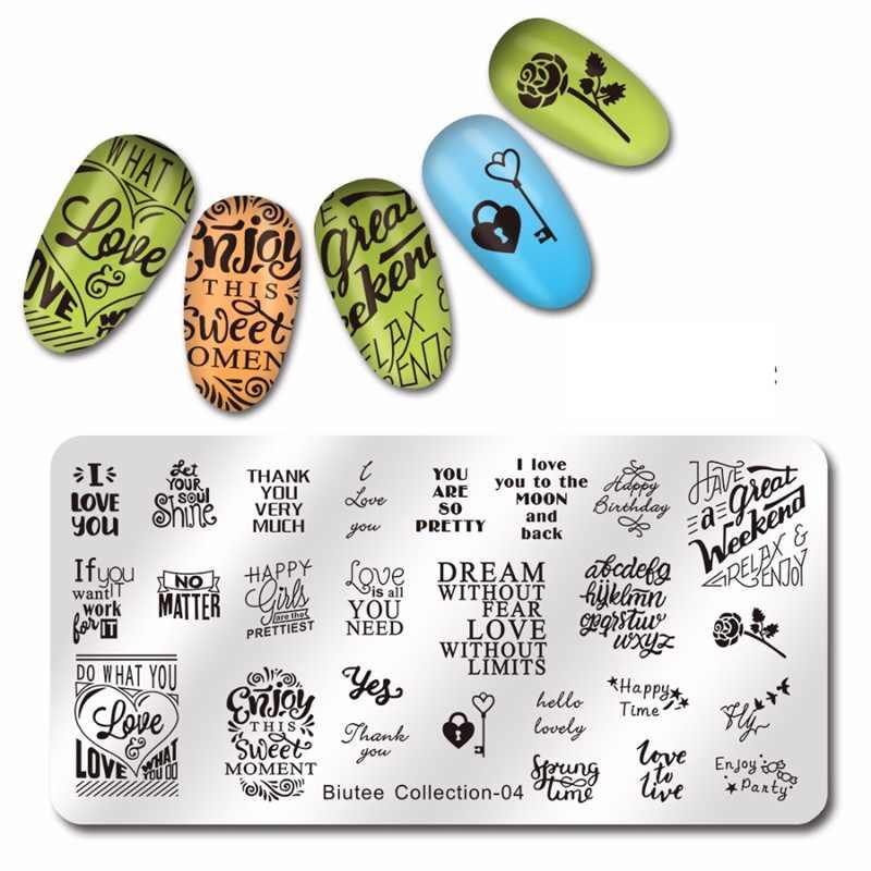 Biutee 12 สีปั๊มBIUTEEโพลีชุดเจลเจลแม่แบบแสตมป์ออกแบบวุ้นซิลิโคนStamperชุดปั๊มเจลเล็บ