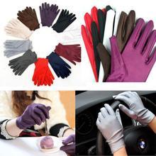 Новинка мода 1 пара солнцезащитный крем вечер вечеринка формальный выпускной эластичный атлас запястье перчатки для женщин 5 цветов дышащий