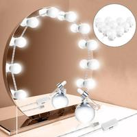 Светодиодный 5V зеркало для макияжа с подсветкой Лампа голливудская группа ламп Плавная регулировкая яркости настенная лампа 10 ламп компле...