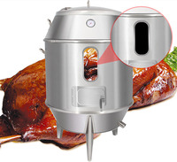Charcoal Peking Roast Duck Oven 90cm Grill Stove Goose Meat Fish Roasting Furnace Coal Stainless Steel