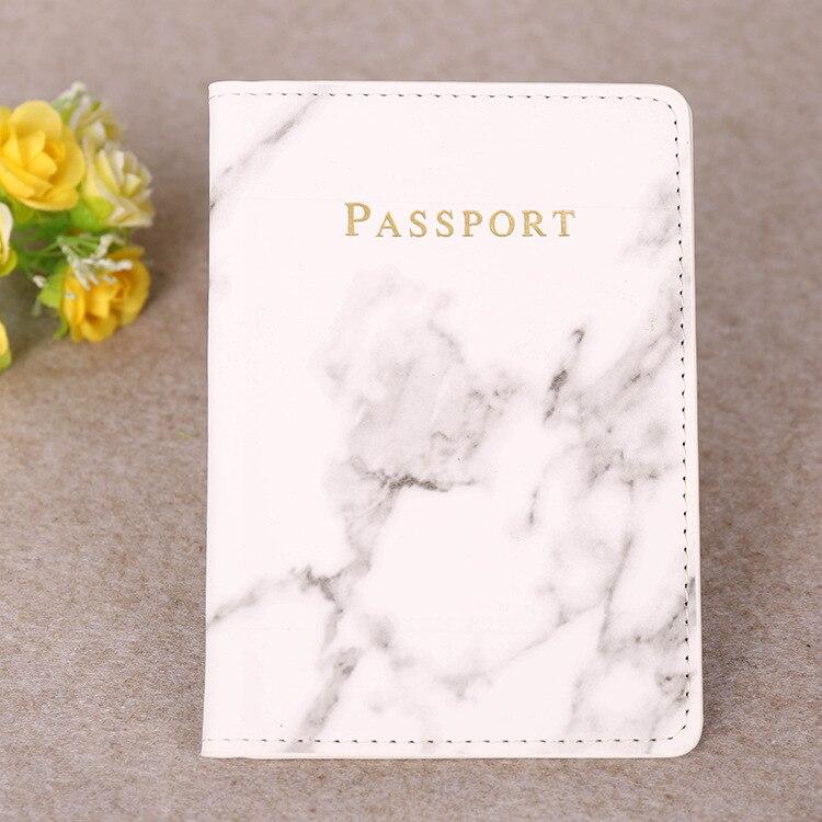 H24ac71e872bb49b089072f7778a64b05T Marble Style Passport Holder Wallet