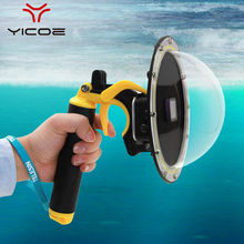 Go Pro Dome Port For GoPro Hero 7 6 5 Underwater Waterproof Housing Case Box Trigger Grip Dome Cover Sphere Accessories