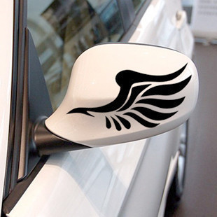 Reflective personalized car stickers reflective stickers fashion mirror a pair of wings car styling For Seat ibiza alhambra LEON image