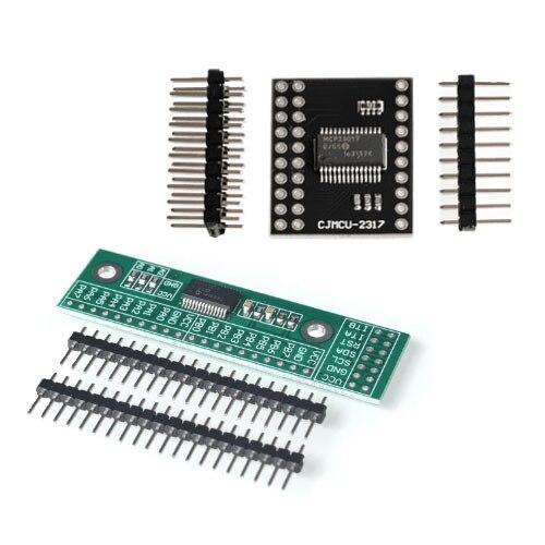 Módulo de interface serial iic i2c spi mcp23s17 bidirecional 16 bits i/o expansor pinos 10 mhz módulo de interface serial