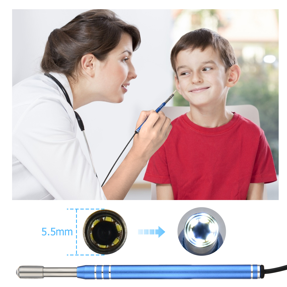 3 in 1 Ear Endoscope HD Visual Otoscope Ear Pick