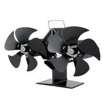 10 лезвие черный вентилятор для камина печи работающий от тепловой