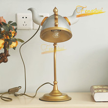 American LED Table Lamp Modern Creative Iron Warrior Decoration Table Lights Bedroom Living Room Table Lamps Children Room Lamp