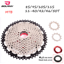 BOLANY MTB Bike Cassette 8s 9s 10s 11speed Flywheel Mountain Bicycle 11-40/42/46/50T Sprocket Derailleur Fit Shimano/SRAM shimano road mtb full range of chains bike bicycle chains hg901 701 601 95 54 93 53 40 cn6701 11s 10s 9s 8s 7s 6s shimano chain
