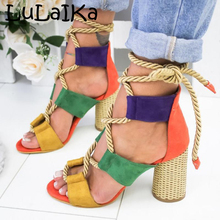 High-Heeled Sandals Open-Toe Comfortable Casual Fashion Summer Ladies Wild Lulaika 5-8cm