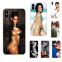 Soft Tpu Phone Case The Sexy Lady Singer Rihanna For Samsung Galaxy Note 5 8 9 S3 S4 S5 S6 S7 S8 S9 S10 5G mini Edge Plus Lite(China)