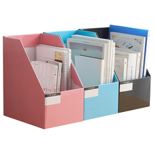 Magazine-Rack Documents-Organizer Book-Stand File-Holder Foldable with Labels Kraft-Paper