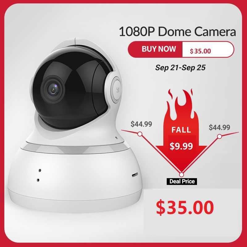 Kamera kopułkowa YI 1080P bezprzewodowy zabezpieczenia IP nadzoru Night Vision wersja międzynarodowa niania elektroniczna Baby Monitor CCTV Wifi chmura dostępne