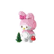 hot LegoINGlys creators cartoon Hello kts cat micro diamond building blocks kittys Melody rabbit nano model bricks toys for gift