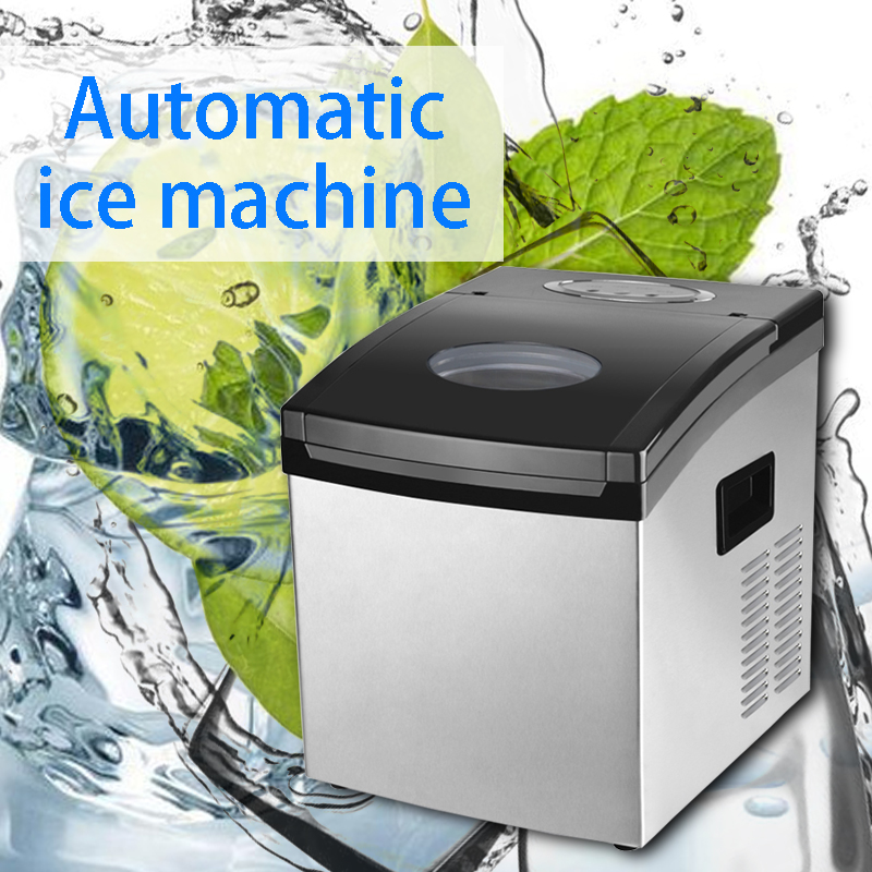 220V Commercial Tea Shop Ice Machine Household Small Mini Ice Machine Intelligent Automatic Ice Machine Dual-purpose Ice Machine