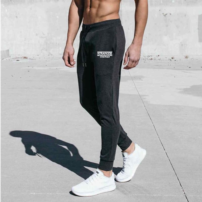 Mens Casual  Joggers Pants Fitness Men Sportswear Skinny Sweatpants Trousers Black Gyms Jogger Fashion Sweatpants