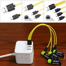 4 IN 1 Micro USB Interface Charging Cable For ZNTER Battery Multifunctional Data Cable Charging Cable Android Data Cable(China)