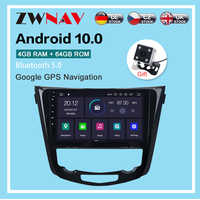 Android 10,0 radio, navegación GPS para coche player para Nissan x-trail Qashqai 2013-2018 radio, navegación GPS para coche jugador unidad principal dsp