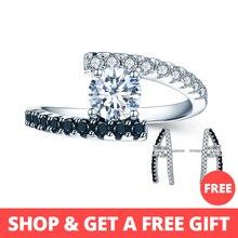 [BLACK AWN] винтажные кольца из серебра 2,9 г, 925 пробы ювелирные изделия, черная шпинель, свадебные кольца для женщин, Femme Bijoux Bague C011