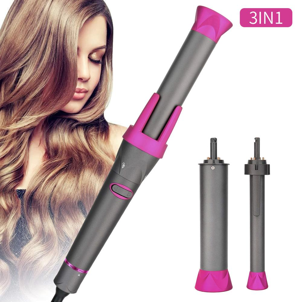 2020 CHJ Professional 3 In 1 Hair Curler Automatic Curling Magic Wand Hair Rollers Interchangeable Ceramic Tourmaline Barrels