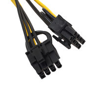 Baru 8 Inci/20 Cm Pci-e 6-Pin untuk 2X6 + 2-Pin (6 -Pin/8-Pin) power Splitter Kabel Pcie PCI Express 6-Pin IE Wanita(China)