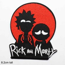 Мультфильм Bean Рик и Морти Утюг на вышитой одежде нашивки для одежды музыка Группа наклейки одежды оптом