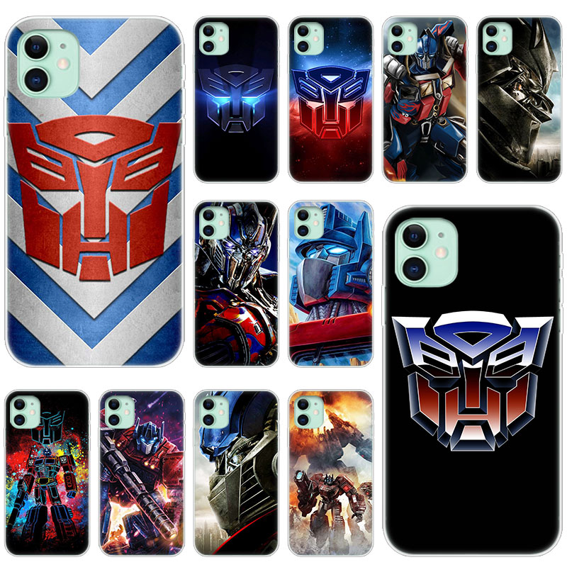 Hot Transformers Autobot <font><b>Logo</b></font> Soft <font><b>Silicone</b></font> <font><b>Case</b></font> for Apple <font><b>iPhone</b></font> 11 Pro XS Max X XR 6 <font><b>6s</b></font> 7 8 Plus 5 5s SE Fashion Cover image