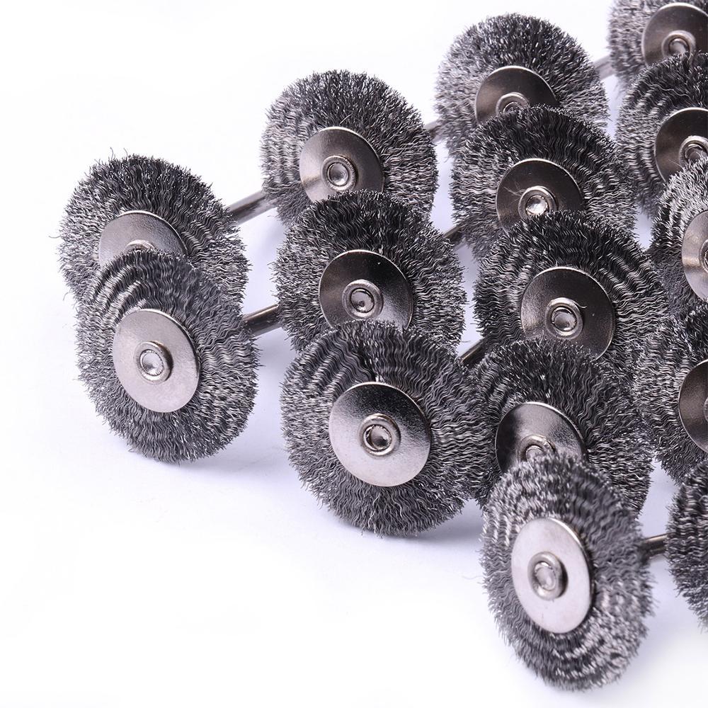 Escova de Fio Escova para Dremel Milímetros Roda Copo Mini Ferramentas Die Grinder Rotary 20 pc 1 – 25
