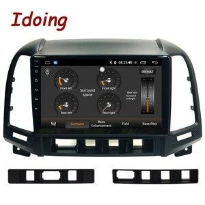 "Image 3 - Idoing 9 ""1Din Android Auto Radio Multimedia Stereo Audio Player Navi GPS Für Hyundai Santa Fe 2 2006 2012 4G + 64G Octa Core DSP"