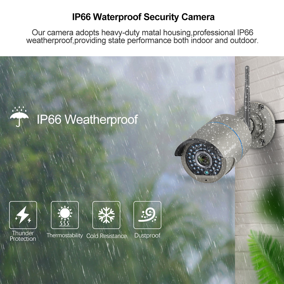 H.265 8CH Wireless CCTV System 1080P 2MP NVR IR-CUT Outdoor CCTV Wifi IP Camera Two-way Audio Video Security Surveillance Kit