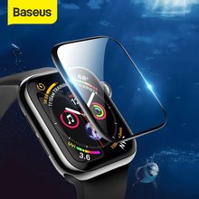 Baseus 0.2mm Soft Tempered Glass For iWatch 4 40 44mm 3D Curved Full Cover Screen Protector Film For iWatch 3 2 1 38 42mm Glass