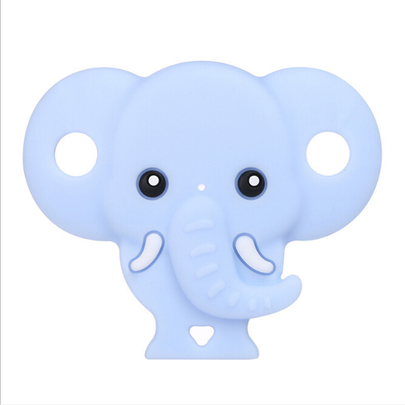 Pink/blue Cute Elephant Shaped Baby Silicone Pacifier Nipple Orthodontic Newborn Infant Feeding Toys For Children Feeding