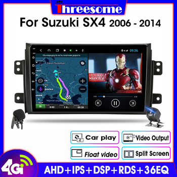 Android 9.0 2Din Car Radio For Suzuki SX4 2006-2014 Stereo GPS Navigation Multimedia Video Player 4G Net RDS 2GB+32GB with Frame hactivol 9 car radio for suzuki sx4 2006 2012 fiat sedici 2006 2010 android 7 0 1 car dvd player with bluetooth 1g ram 16g rom