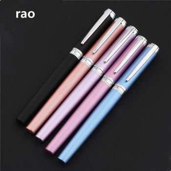 Wysokiej jakości 05 jasny kolor biuro biznesowe pióro kulkowe nowy uczeń artykuły biurowe kulkowe długopisy tanie i dobre opinie you ping 0 5mm Black 135mm Metal Office School Pen Rollerball pen
