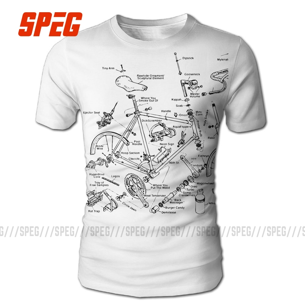 Cycle Bicycle Biker Printed T Shirt 100% Polyester Clothing Short Sleeve Tees O-Neck Novelty Gift For Bikers Men Funny T-Shirt