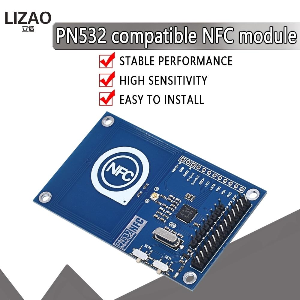 Módulo preciso nfc de 13.56mhz pn532 para arduino compatível com módulo de cartão raspberry pi/nfc para ler e escrever|Circuitos integrados|   -