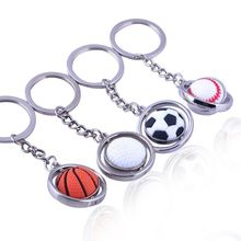 Keychain Football / Basketball Baseball Golf Ball Shape Metal Pendant Chain Ring Decoration