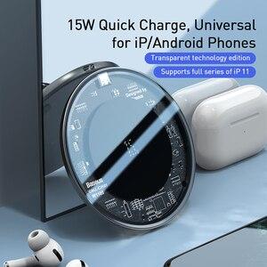 Image 2 - Baseus 15W Drahtlose Ladegerät Für iPhone 11 X XS Max XR Airpods Pro Qi Drahtlose Schnelle Lade Pad Für samsung S10 S9 S8 Xiaomi