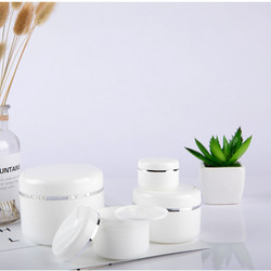 White Refillable Bottles Travel Face Cream Lotion Cosmetic Container Plastic Empty Makeup Jar Pot 20/30/50/100/150/250g