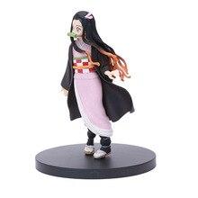 Figurine d'anime de tueur de démon Tanjirou Nezuko PVC modèle jouet Figurine d'anime de tueur de démon Kimetsu aucun Fgures d'anime de Yaiba