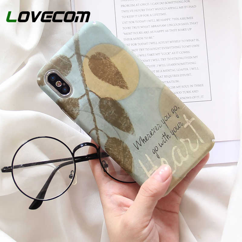 LOVECOM Phone Case For Huawei P30 P20 Pro Lite Mate 20 Pro Honor 9X 8X 20 10 Lite Nova 4 5 Vintage Leaf Hard PC Back Cover Coque