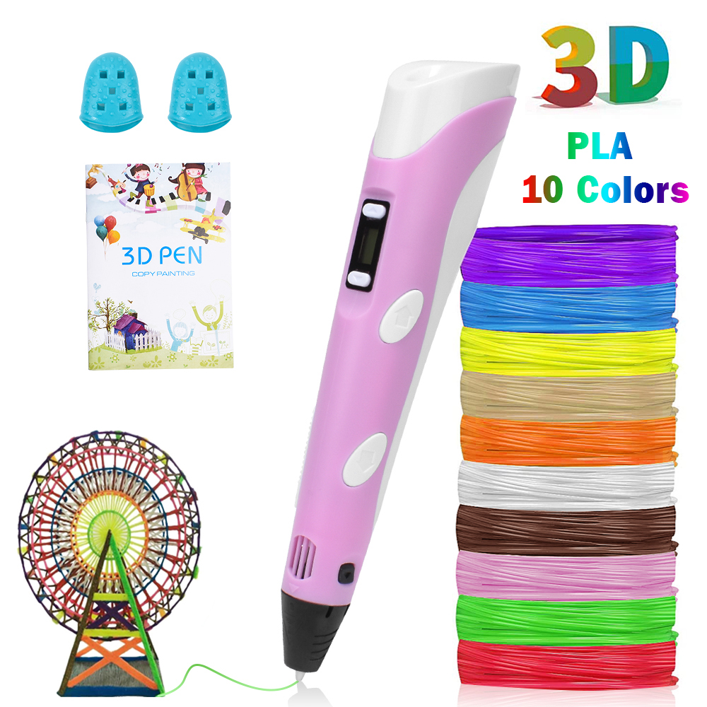 3D Stampa Graffiti Penna Penna Disegno Pittura Penne Temperatura Regolabile con il Cavo USB PLA Filamento Giocattolo Educativo per I Bambini FAI DA TE