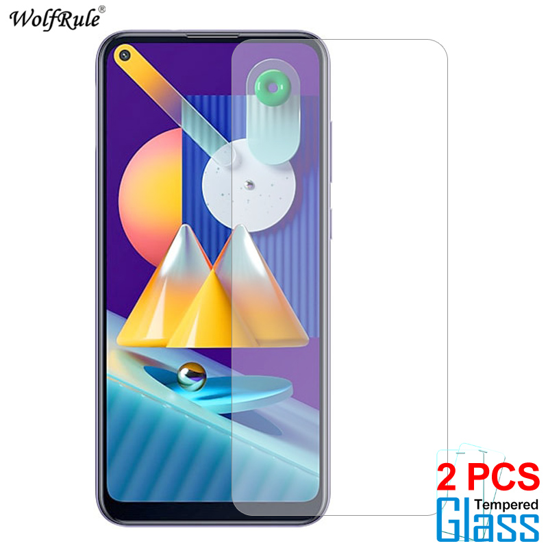 2Pcs Screen Protector For Samsung Galaxy M11 Glass 9H HD Protective Phone Film For Samsung Galaxy M11 Tempered Glass M115 6.4''