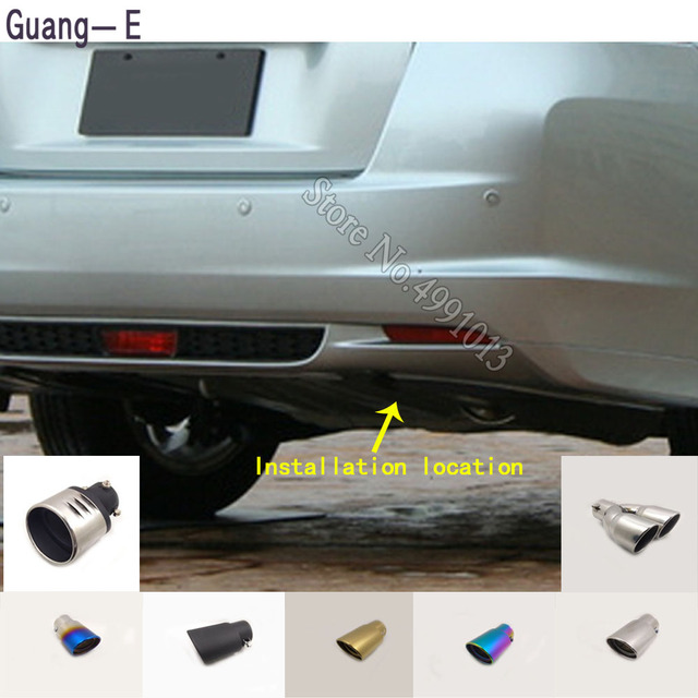 For Honda Insight 2010-2017 car stickers cover muffler exterior back end pipe dedicate exhaust tip tail outlet ornament 1pcs 1