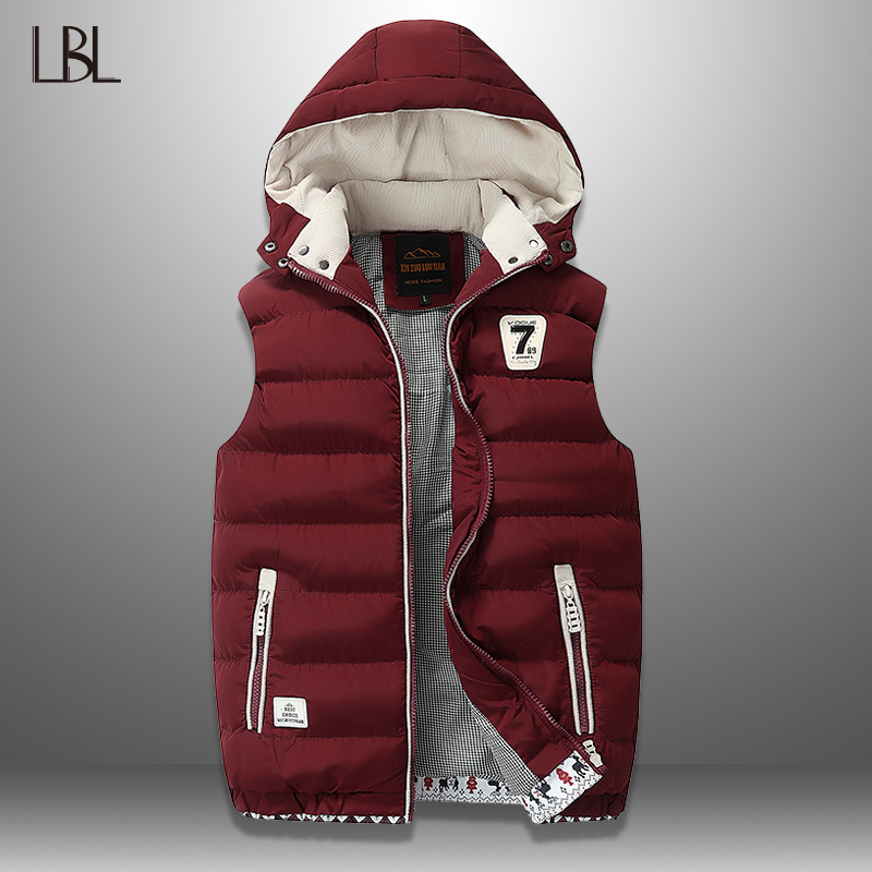 Men's Vest Winter Down Vest Casual Waistcoat Men's Sleeveless Jacket Plus Size 5XL Warm Men's Vest Overcoats Hat Detachable New|Vests & Waistcoats|   - AliExpress