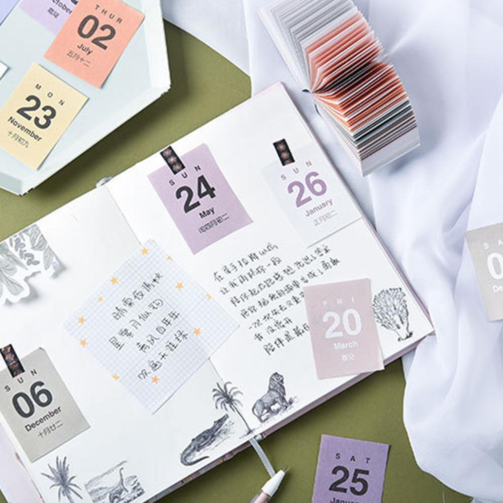 Creativing Simplicity 2019 2020 Mini Calendars DIY Bullet No Schedule Planner Learning Journal Sticky Sticker A1B6