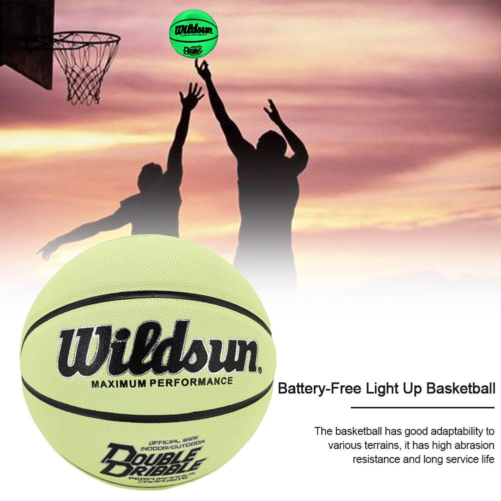 Basketball Glow Ball Battery-Free Light Up Basketball With Size 7 Durable Abrasion Resistance Long Service Life Light Up