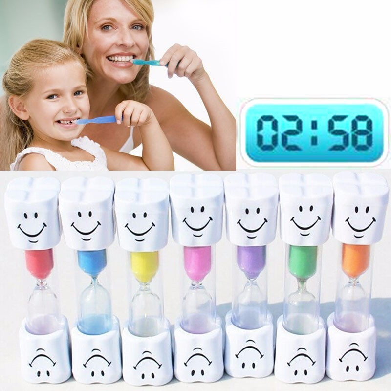 5pcs Dental Gift Kids Brush Teeth Timer Teeth Brush Timer 3 Minutes Smile Sandglass Brush Teeth Hourglass Dental Clinic Gift