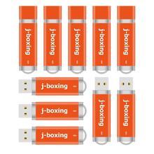 J boxing 10 Uds 1GB USB Flash Drive Bulk 2GB 4GB 8GB 16GB 32 encendedor GB diseño Unidad de pulgar Jump Drive Pendrive naranja para ordenador