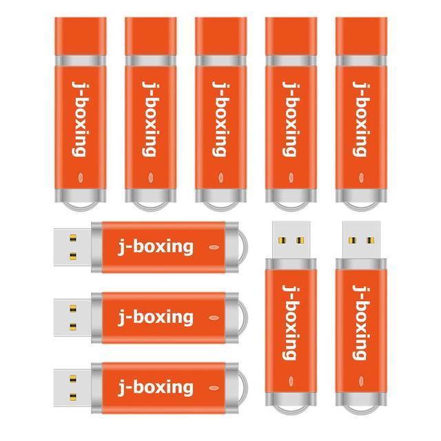 J boxing 10PCS 1GB USB Flash Drive Bulk 2GB 4GB 8GB 16GB 32GB Lighter Design Thumb Drive Jump Drive Pendrive Orange for Computer